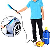 Outsunny 12L Car Washer Power Portable Hand Pump Jet Action High Pressure Sprayer Bottle Cleaner Water Wash Hose