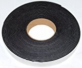 Neoprene sponge rubber self adhesive strip 20mm wide x 3mm thick x 10m long - weather, noise seal