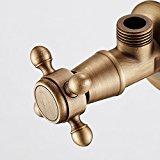 European - style bathroom bathroom hardware all - copper antique antique triangle valve