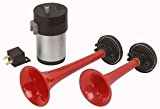 Streetwize Swah1 Twin Car Air Horn Set Red