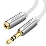 UGREEN 3.5mm Stereo Jack Audio Extension Cable for Apple iPhone, iPod, iPad, Samsung,Smartphones,Tablets and Speakers Male to Female Gold Plated with Aluminum Case (5m)