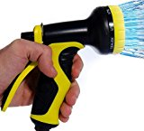 Garden Hose Spray Gun: Best for Lawns, Plants & Shrubs, Washing Cars, Dogs + Pets. Free Detachable Shut Off/ON Valve, Ergonomic Trigger, Easy Flow Control Setting, Durable Soft Touch Grip, 9 Settings. Premium brand backed by Lifetime Warranty