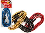 2 Heavy Duty Strong Elastic Bungee Rope Straps for Car Roof Rack or Motorbike