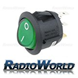 Green LED Rocker Switch Car dash light ON/OFF 240v