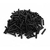 300pcs Wrap Wire Black 3.5mm Dia Heat Shrink Tube Sleeving 2:1