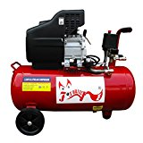 FoxHunter Professional 50L Ltr Litre 11 Gallon Air Compressor 2.5HP 8 BAR Electric 230V 50Hz Single Cylinder With Wheel