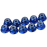 Mxfans 10PCS M4 Aluminum Dark Blue Flange Nylon Lock Nuts for Buggies Modal Car